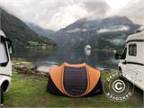 Campingtelt Pop-up, FlashTents®, 4 personer, Large, Orange/Mørkegrå - 2