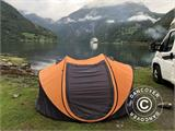 Campingtelt Pop-up, FlashTents®, 4 personer, Large, Orange/Mørkegrå - 3