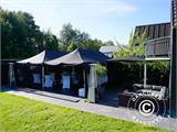 Pop up gazebo FleXtents PRO 3x6 m Black, Flame retardant, incl. 6 sidewalls - 4