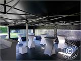 Pop up gazebo FleXtents PRO 3x6 m Black, Flame retardant, incl. 6 sidewalls - 5