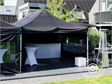 Pop up gazebo FleXtents PRO 3x6 m Black, Flame retardant, incl. 6 sidewalls - 7