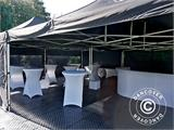 Pop up gazebo FleXtents PRO 3x6 m Black, Flame retardant, incl. 6 sidewalls - 9