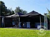 Pop up gazebo FleXtents PRO 3x6 m Black, Flame retardant, incl. 6 sidewalls - 13