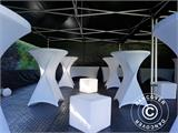 Pop up gazebo FleXtents PRO 3x6 m Black, Flame retardant, incl. 6 sidewalls - 14