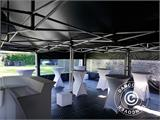 Pop up gazebo FleXtents PRO 3x6 m Black, Flame retardant, incl. 6 sidewalls - 16