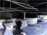 Pop up gazebo FleXtents PRO 3x6 m Black, Flame retardant, incl. 6 sidewalls - 17