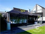 Pop up gazebo FleXtents PRO 3x6 m Black, Flame retardant, incl. 6 sidewalls - 18