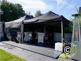 Pop up gazebo FleXtents PRO 3x6 m Black, Flame retardant, incl. 6 sidewalls - 20