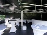 Pop up gazebo FleXtents PRO 3x6 m Black, Flame retardant, incl. 6 sidewalls - 21