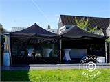 Pop up gazebo FleXtents PRO 3x6 m Black, Flame retardant, incl. 6 sidewalls - 22