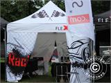 "Pop up gazebo FleXtents PRO ""Morocco"" 3x3 m White, incl. 4 sidewalls - 77"