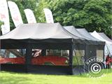 Pop up gazebo FleXtents Steel 4x8 m Black, incl. 10 decorative curtains - 56