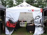 Pop up gazebo FleXtents PRO 3x3 m Black, incl. 4 sidewalls - 63