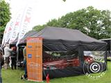 Pop up gazebo FleXtents PRO 3x6 m Black, Flame retardant, incl. 6 sidewalls - 87