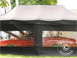 Pop up gazebo FleXtents PRO 3x6 m Black, Flame retardant, incl. 6 sidewalls - 89