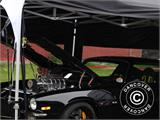 Pop up gazebo FleXtents PRO 3x6 m Black, Flame retardant, incl. 6 sidewalls - 94