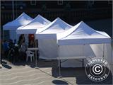 "Pop up gazebo FleXtents PRO ""Morocco"" 3x3 m White, incl. 4 sidewalls - 6"