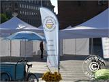 "Pop up gazebo FleXtents PRO ""Morocco"" 3x3 m White, incl. 4 sidewalls - 17"