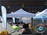 "Pop up gazebo FleXtents PRO ""Morocco"" 3x3 m White, incl. 4 sidewalls - 18"