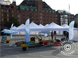 "Pop up gazebo FleXtents PRO ""Morocco"" 3x3 m White, incl. 4 sidewalls - 26"