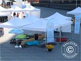Pop up gazebo FleXtents PRO 4x8 m White, Flame retardant, incl. 6 sidewalls - 48