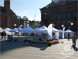 "Pop up gazebo FleXtents PRO ""Morocco"" 3x3 m White, incl. 4 sidewalls - 42"