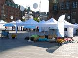 "Pop up gazebo FleXtents PRO ""Morocco"" 3x3 m White, incl. 4 sidewalls - 43"