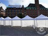 "Pop up gazebo FleXtents PRO ""Morocco"" 3x3 m White, incl. 4 sidewalls - 59"