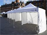 Pop up gazebo FleXtents PRO 4x8 m White, Flame retardant, incl. 6 sidewalls - 75
