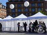 Pop up gazebo FleXtents Xtreme 4x6 m White, incl. 8 sidewalls - 100