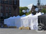 "Pop up gazebo FleXtents PRO ""Morocco"" 3x3 m White, incl. 4 sidewalls - 74"