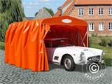 Garage pliant tunnel (Voiture), 2,5x5,15x2,15m, gris - 3