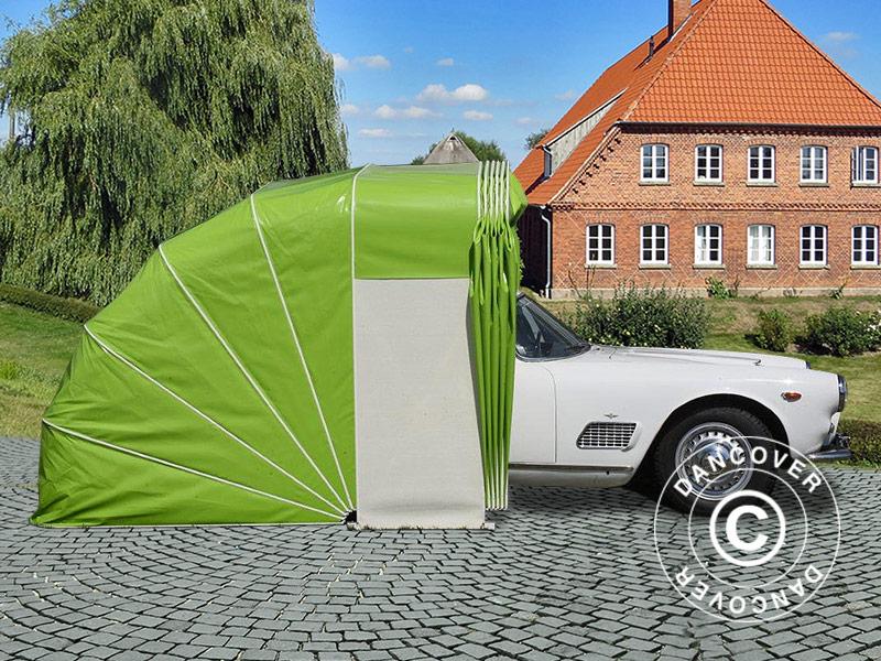 Garage pliant voiture 2 5x5 4x2m beige dancovershop fr for Negocier prix voiture garage
