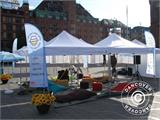 Pop up gazebo FleXtents PRO with full digital print, 3x3 m - 6