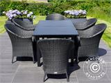 Extendable garden table Key West, 180/240x95x76cm, Black - 1