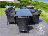 Extendable garden table Key West, 180/240x95x76cm, Black - 4