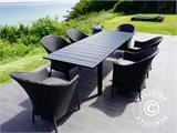 Extendable garden table Key West, 180/240x95x76cm, Black - 5