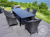 Extendable garden table Key West, 180/240x95x76cm, Black - 6