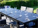 Garden furniture set, Miami, 1 table + 6 chairs, Black/Grey - 7