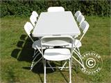 Banquet table PRO 200x90x74 cm, Light grey (1 pcs.) - 4