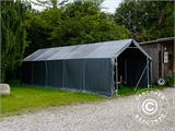Storage shelter PRO 5x10x2x3.39 m, PVC, Green - 3