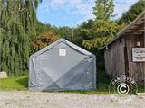 Storage shelter PRO 5x8x2x3.39 m, PVC, Green - 4