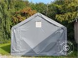 Storage shelter PRO 5x8x2x3.39 m, PVC, Green - 8