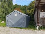 Storage shelter PRO 5x8x2x3.39 m, PVC, Green - 9