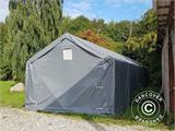 Storage shelter PRO 5x8x2x3.39 m, PVC, Green - 13