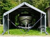Storage shelter PRO 5x8x2x3.39 m, PVC, Green - 23