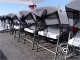 Pop up gazebo FleXtents PRO 4x8 m White, Flame retardant, incl. 6 sidewalls - 3