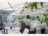 Marquee Exclusive 5x12 m PVC, Grey/White - 2