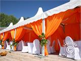 Marquee Exclusive 5x12 m PVC, Grey/White - 22