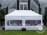 Carpa para fiestas, SEMI PRO Plus CombiTents® 5x10m, 3 en 1, Blanco - 29